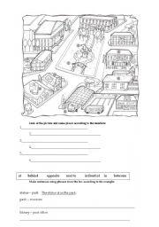 town places and prepositions esl worksheet by zeberka. Black Bedroom Furniture Sets. Home Design Ideas