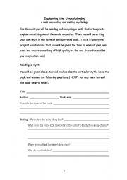 English Worksheets: Explaining the Unexplainable