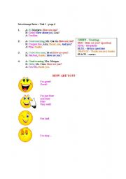 English Worksheets: Greetings (formal and informal) - How are you?
