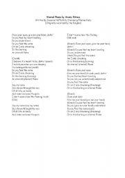 English Worksheet: Eternal Flame-Song