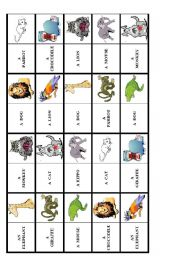 English Worksheets: animal dominoes