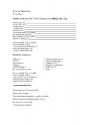 English Worksheet: Song -