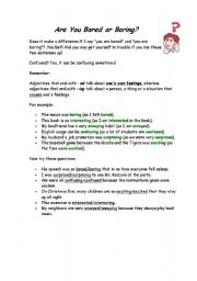 English Worksheets: ARE YOU BORED OR BORING?