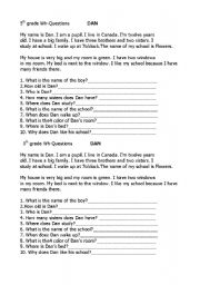 English Worksheets: wh questions for beginners