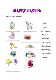 English Worksheet: Easter Signs