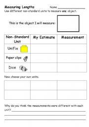 Printables Non Standard Measurement Worksheets non standard measurement worksheets bloggakuten davezan