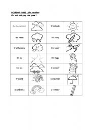 English Worksheet: Domino game the weather