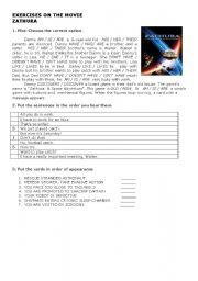 English Worksheets: Zathura - Exercises on the Movie