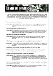 English Worksheet: Meet Linkin Park  - Reported Speech Worksheets