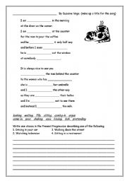English Worksheet: Song worksheet for present progressive