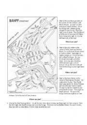 English Worksheets: Banff Map
