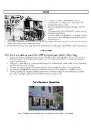 English Worksheets: Tom�s Diner