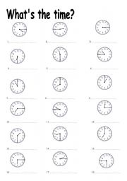 English Worksheets: TELLING THE TIME