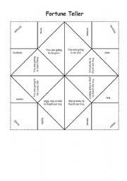 English Worksheet: Fortune Teller