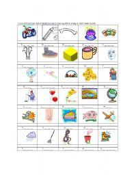 English Worksheet: long & sort vowel sound