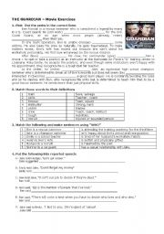 English Worksheets: The Guardian  Movie  Exercises