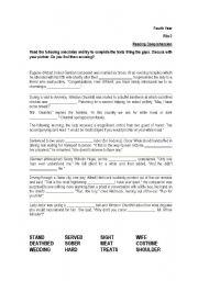 English Worksheets: anecdotes (blanks)