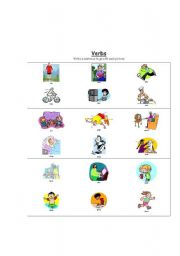 English Worksheets: VERB actions
