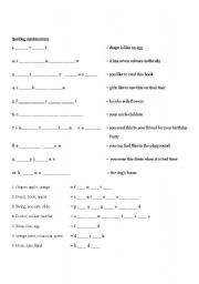 English Worksheets: 50 Spelling Test with description sentence