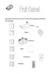 English Worksheet: Fruit Game