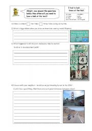English Worksheets: Which way now?
