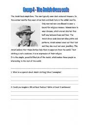 English Worksheet: Amish 4