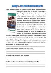 English Worksheet: Amish 5