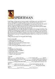 English Worksheets: Spiderman