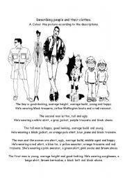 Describing people and their clothes2