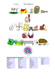 English Worksheets: Outdoors