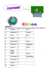English Worksheets: It�s time for geography