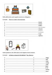 English Worksheets: THERE IS
