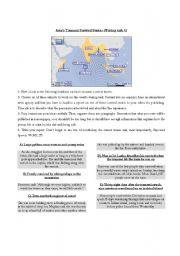 English Worksheet: Writing an Article - Tsunami Survival Stories