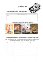 English Worksheets: My Favourite movie