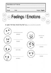 Worksheet Emotions Worksheets emotions worksheet by coiso english emotions