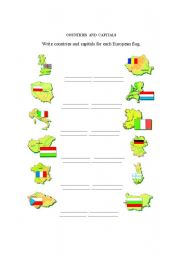 English Worksheet: EUROPEAN COUNTRIES