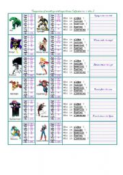 English Worksheet: Comparison  Adjective+er With Superheroes Card Information