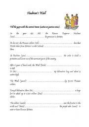English Worksheet: romans(passive)