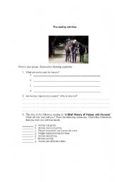 English Worksheets: Reading Comprehension activities
