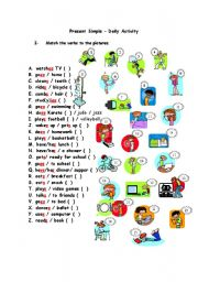Daily activity verbs