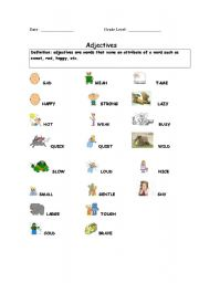 English Worksheet: quick as a cricket 2