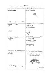 English Worksheet: Mini book on the story
