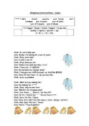 English Worksheet: SHOPPING CONVERSATION