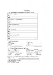 English Worksheets: elementary exercises