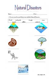 English teaching worksheets: Natural disasters