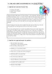 English worksheets: reading comprehension worksheets, page 124