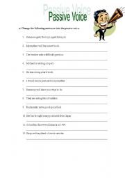 Printables Passive Voice Worksheet passive voice exercises worksheet by carla english exercises