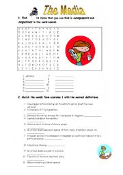 English Worksheets: The Media