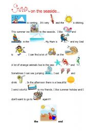 English Worksheet: Summer is coming - fill in reading