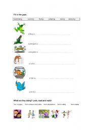 English Worksheets: ing forms